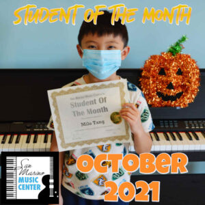 Student Of The Month, October 2021