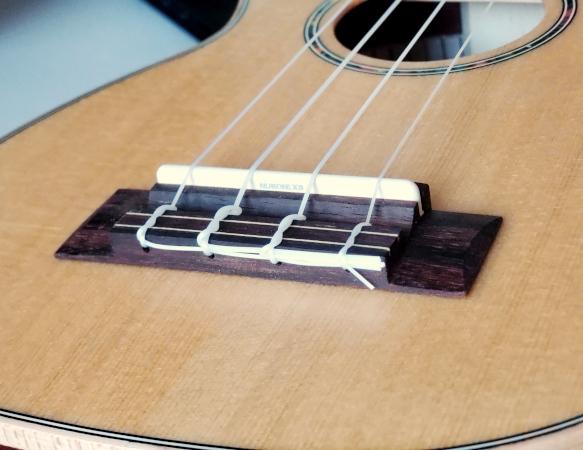Bridge for SMMC's Sunlite US-500 ukulele.
