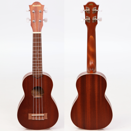 The top and back of a Sunlite ukulele