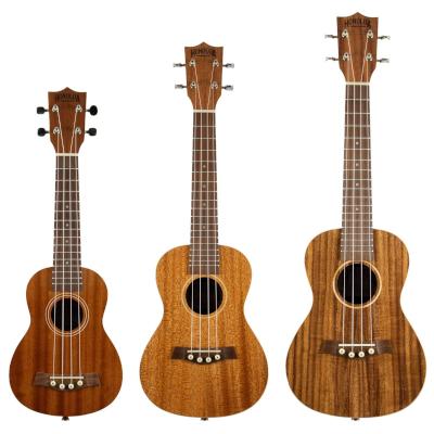Different sized ukuleles